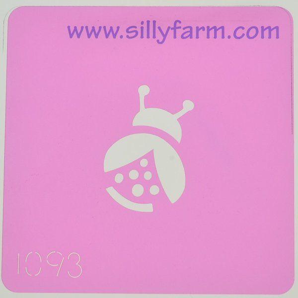 Silly Farm Stencil Ladybug