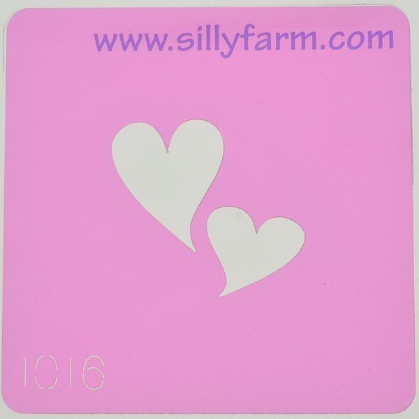 Silly Farm Stencil Hearts (20837)