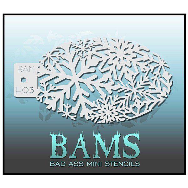 Bad Ass Bams Schmink Sjabloon Sneeuwvlokken