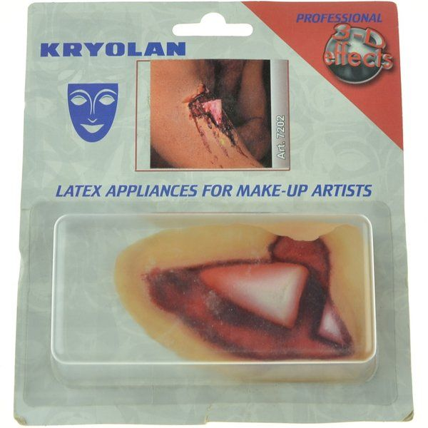 Kryolan latex bone coming out of the skin