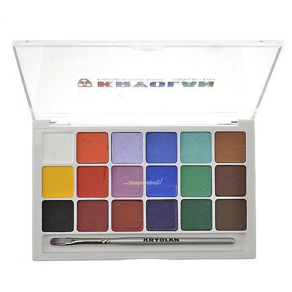 Kryolan Aquacolor Basispalet 18 Kleuren