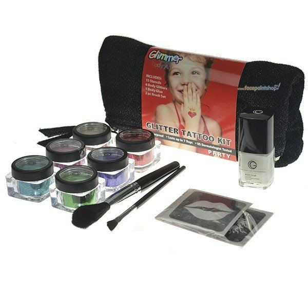 Glimmer Glitter Tattoo Kit Party