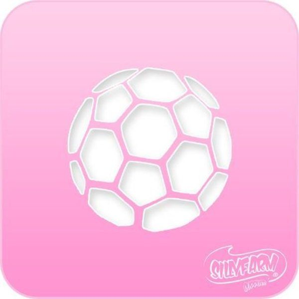 Silly Farm Stencil Soccer Ball