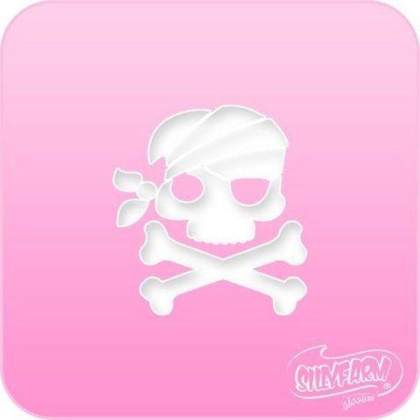 Schminksjabloon Sillyfarm Piraat Skull N' Bones