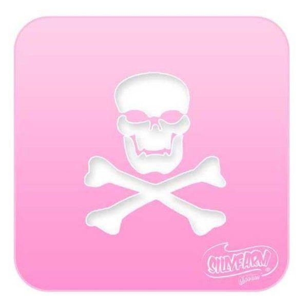 Schminksjabloon Sillyfarm Skull & Cross Bones