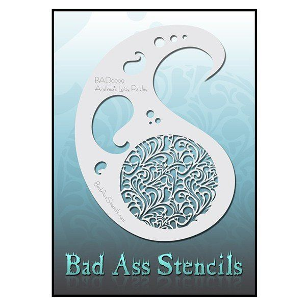 Bad Ass Stencil Bad 6009 Laizy Paizley
