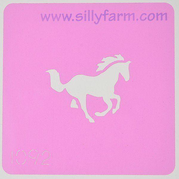 Silly Farm Stencil Horse