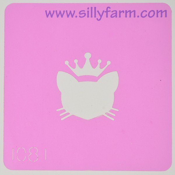 Silly Farm Stencil Royal Cat