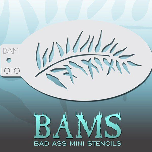 Bad Ass Bams FacePaint Stencil 1010