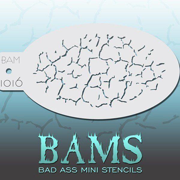 Bad Ass Bams FacePaint Stencil 1016