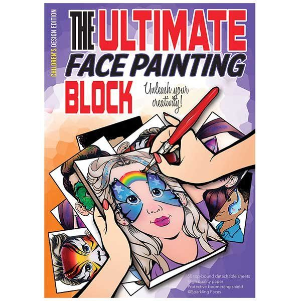 """""""The ultimate face painting practice block. Children's Edition"""
