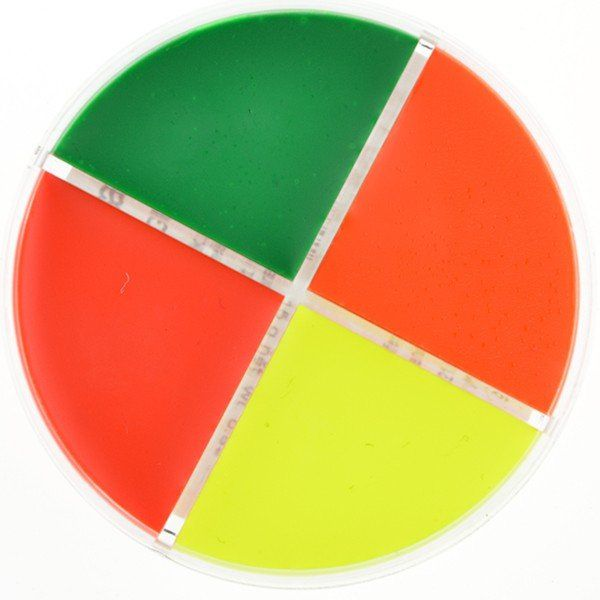 Kryolan Fun Faze UV-Dayglow Wheel - 4 Shades