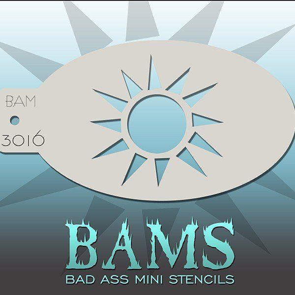 Bad Ass Bams FacePaint Stencil 3016