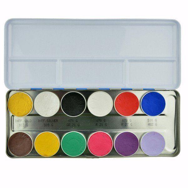 Kryolan 12 kleuren Palette Interferenz