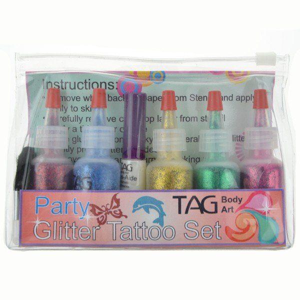 Tag Glitter Party Tattoo Set