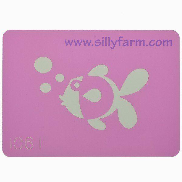 Facepaint Stencil Sillyfarm Fish