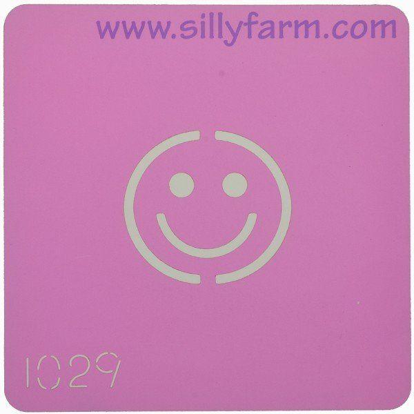 Schminksjabloon Sillyfarm Smiley