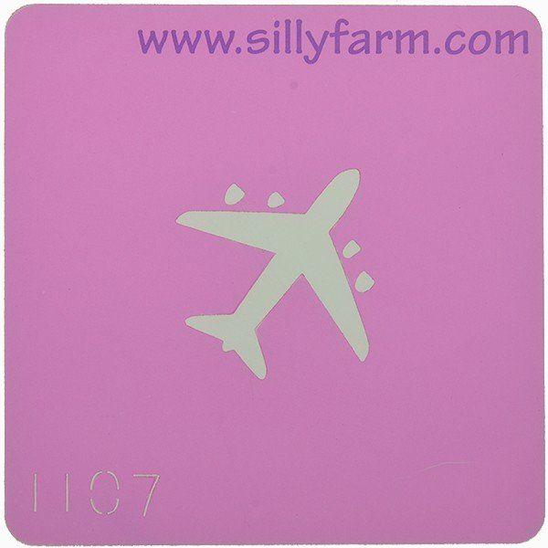 Facepaint Stencil Sillyfarm Plane