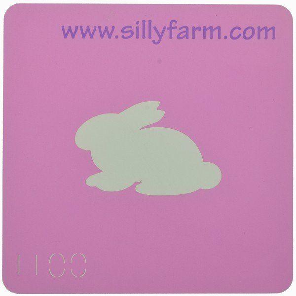 Facepaint Stencil Sillyfarm Bunny