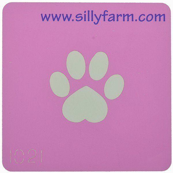 Schminksjabloon Sillyfarm Honden Poot
