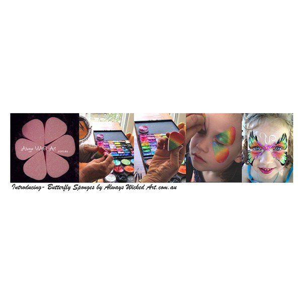 Wicked Art Butterfly Facepainting Sponges