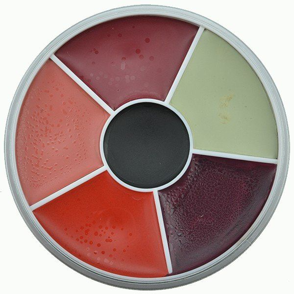Kryolan Rainbow Circle Vetschmink Burn & Injury
