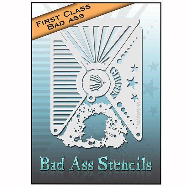 Bad Ass First Class Circus Stencil