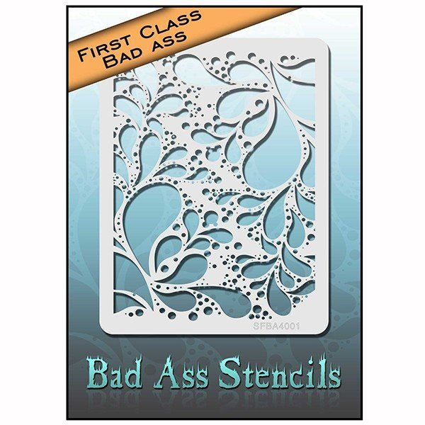 Bad Ass First Class Swirl/Bubbles Stencil