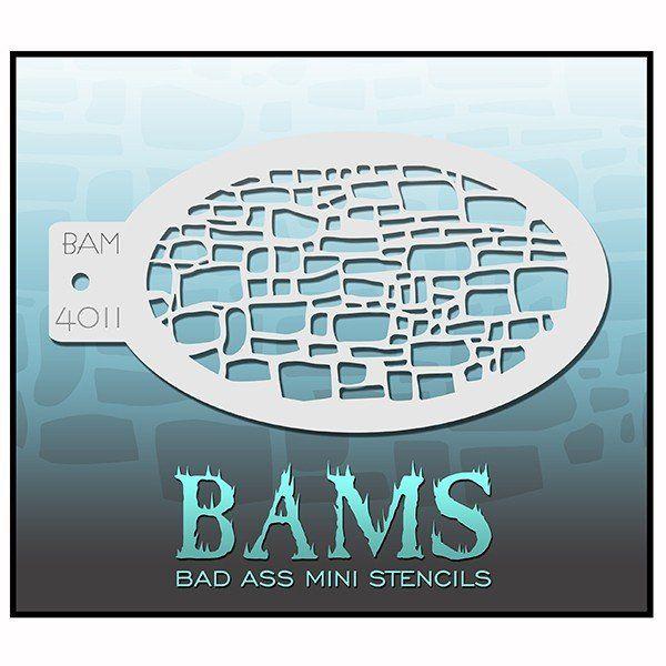 Bad Ass Bams Facepaint Stencil 4011