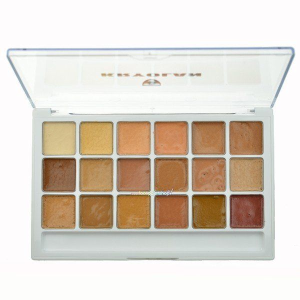 Kryolan Body Ilustration Make-Up Color Palette Flesh