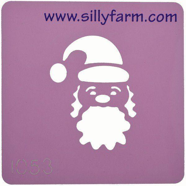 Schminksjabloon Sillyfarm Kerstman