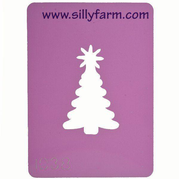 Schminksjabloon Sillyfarm Kerstboom