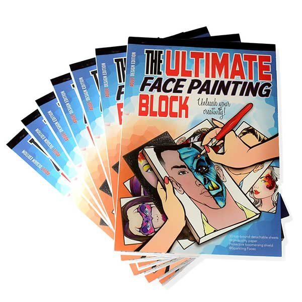 """""""The ultimate face painting practice block. Adult Edition"""