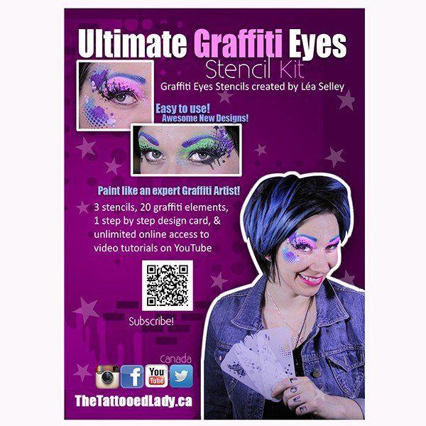 Lea Selley Ultimate Graffiti Eyes Stencil Kit