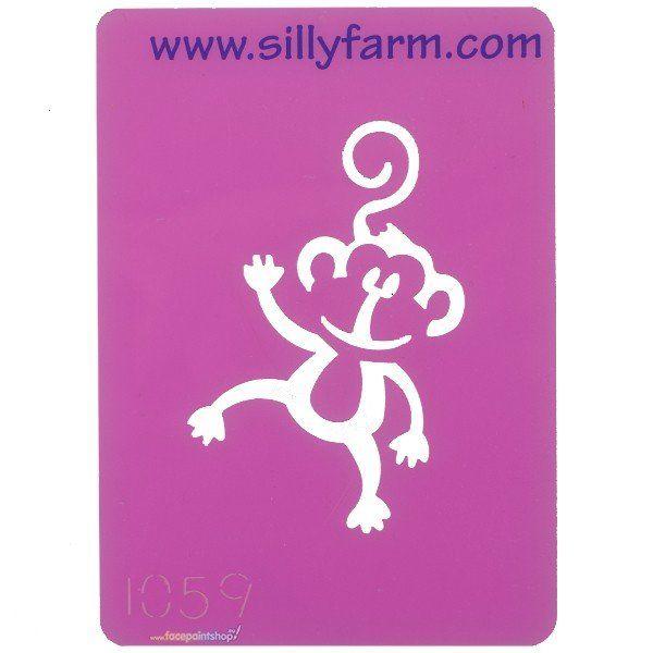 Schminksjabloon Sillyfarm Aapje