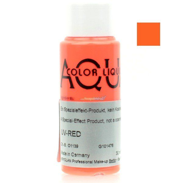 Kryolan Aquacolor Liquid Uv Color Red