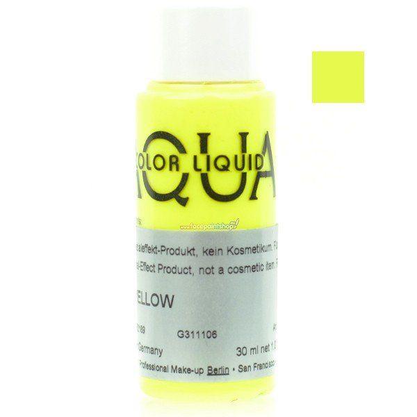 Kryolan Aquacolor Liquid Uv Color Yellow