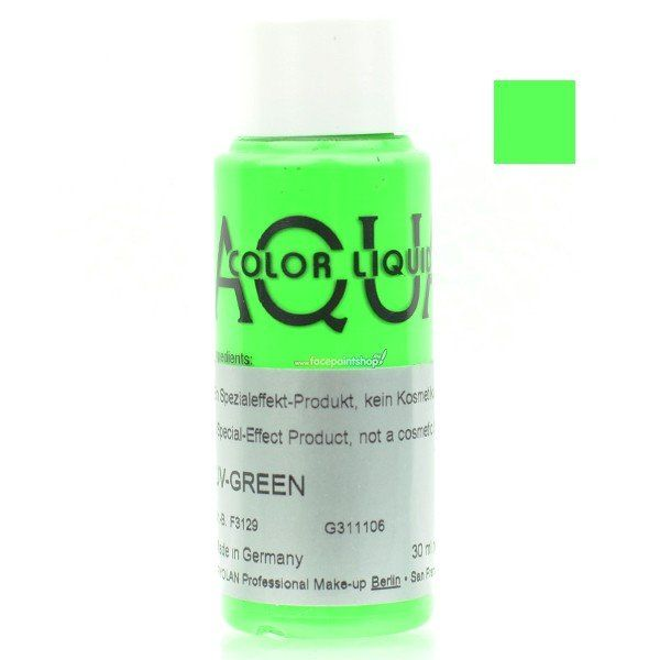 Kryolan Aquacolor Liquid Uv Color Green 30ml