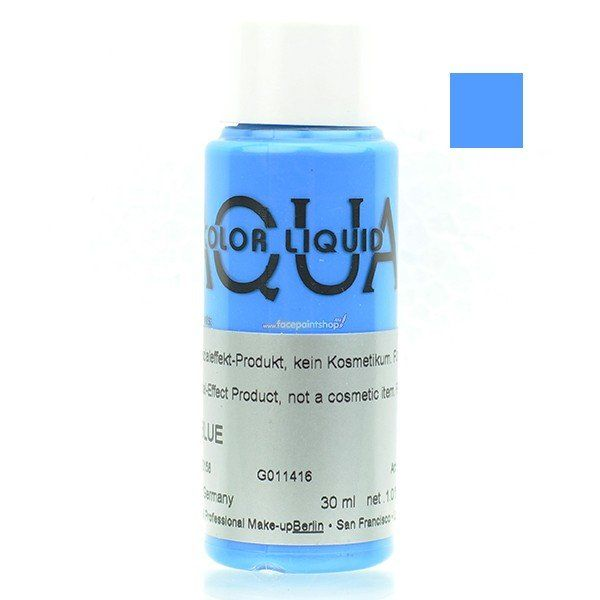 Kryolan Aquacolor Liquid Uv Color Blue