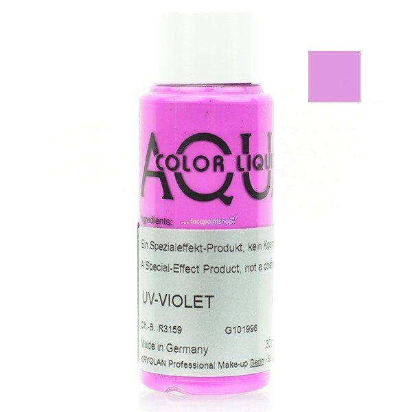 Kryolan Aquacolor Liquid Uv Color Violet