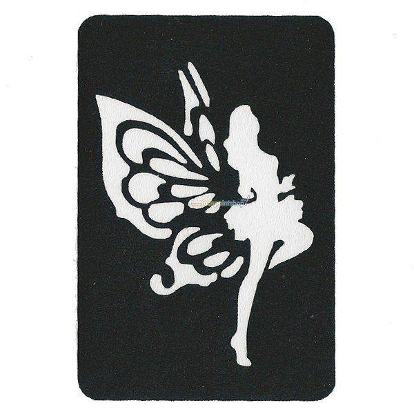 Glittertattoo Sjabloon Fairy (5 pack)