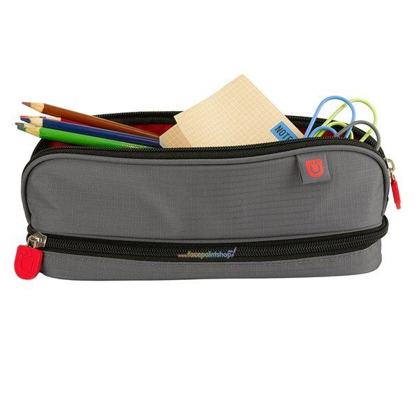 Zuca Pencil Case Grey/Red
