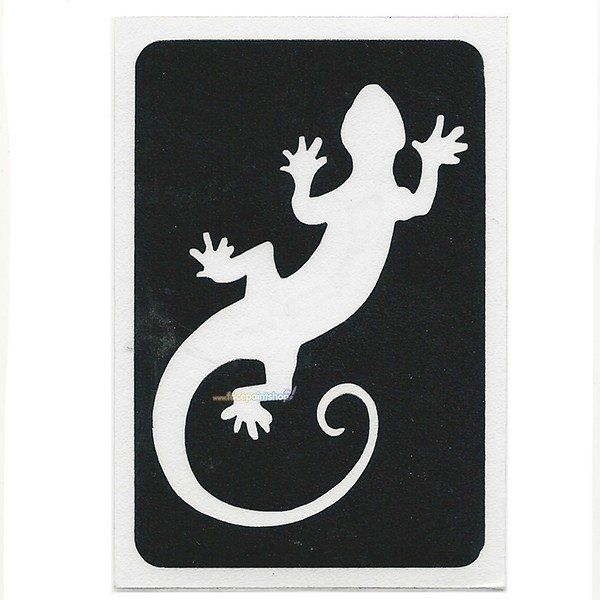 Glittertattoo Sjabloon Gecko (5 pack)