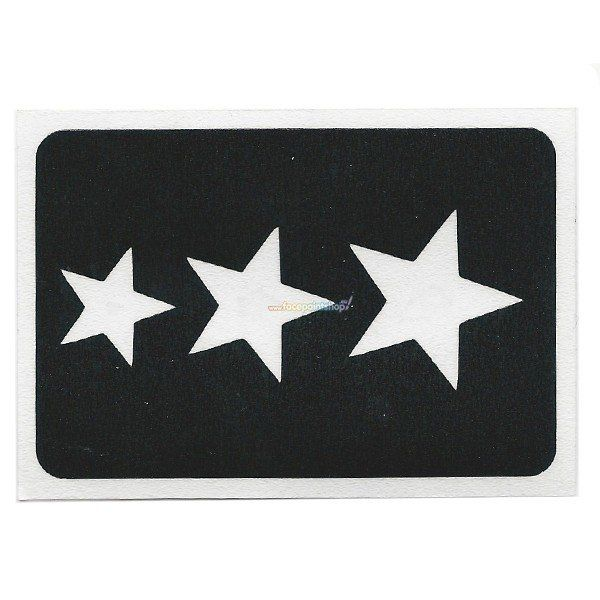 Glittertattoo Sjabloon Tri Star (5 pack)