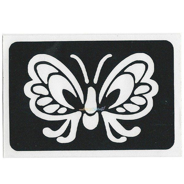 Glittertattoo Sjabloon Butterfly Wings (5 pack)