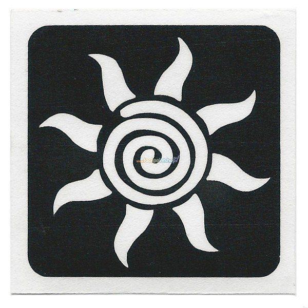Glittertattoo Sjabloon Star Swirl (5 pack) (21600)