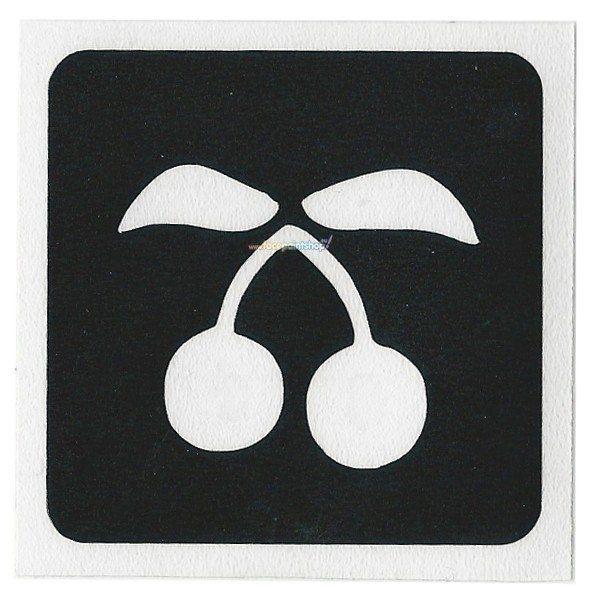 Glittertattoo Stencil Cherry (5 pack)