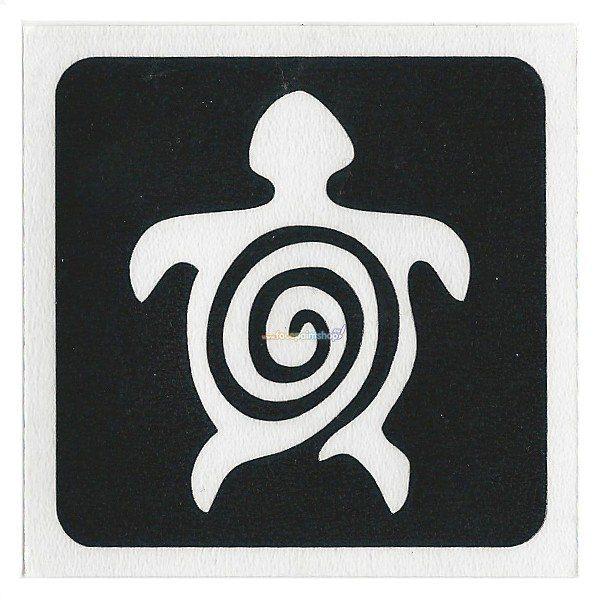 Glittertattoo Sjabloon Turtle Swirl (5 pack)