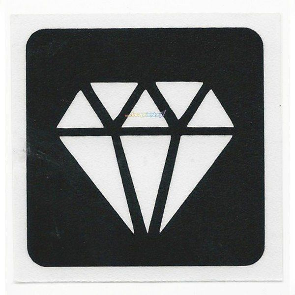 Glittertattoo Stencil Diamond Bling (5 pack)