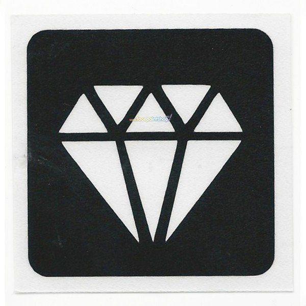 Glittertattoo Sjabloon Diamond Bling (5 pack)